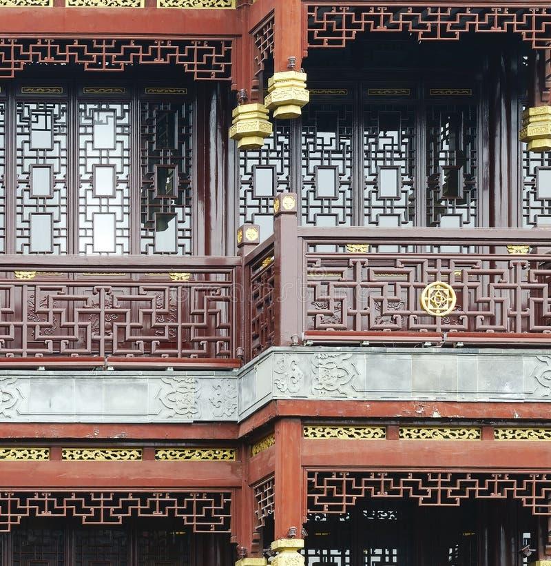 Fragment d'une architecture de chinois traditionnel photos stock