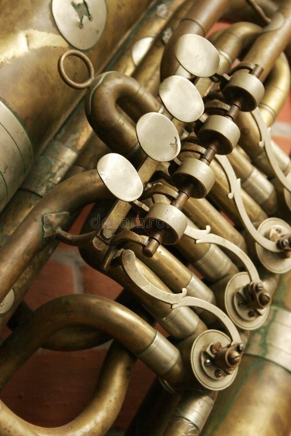 Fragment d'une trompette photo libre de droits