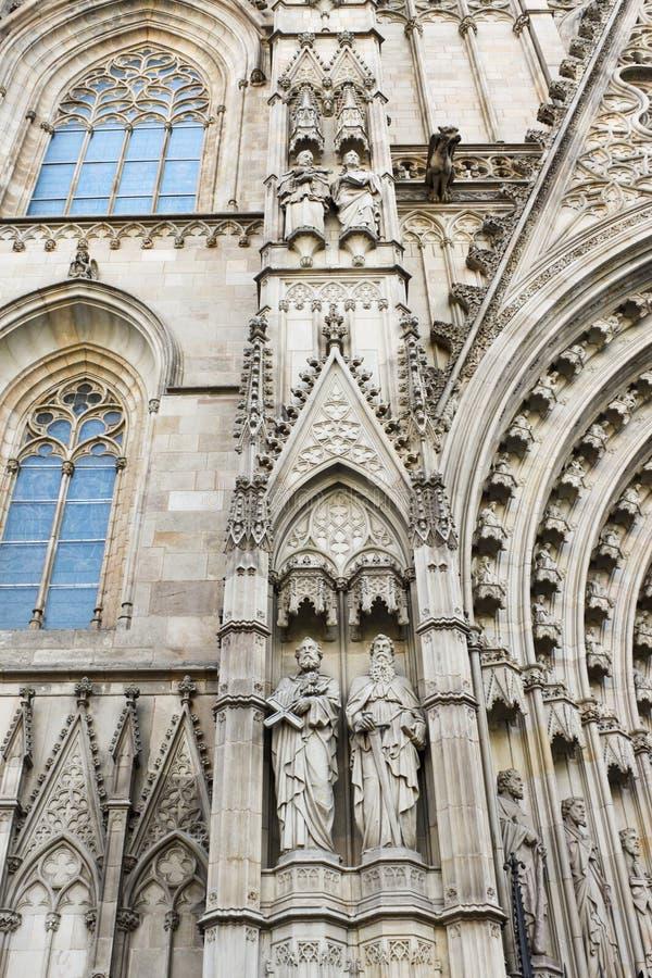 Fragment de cathédrale de Barcelone photos libres de droits
