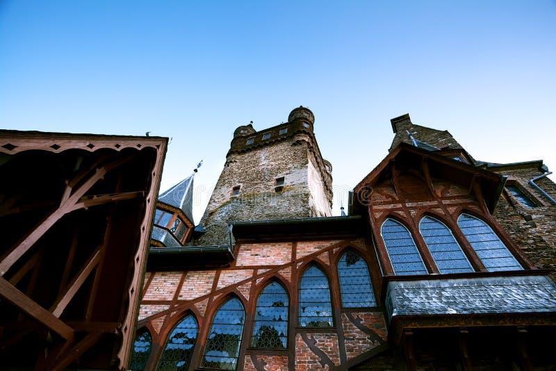 Fragment de château dans Cochem image libre de droits