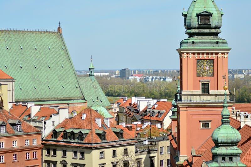 Fragment de ch?teau royal dans la place de ch?teau dans la vieille ville de Varsovie en Pologne photos libres de droits