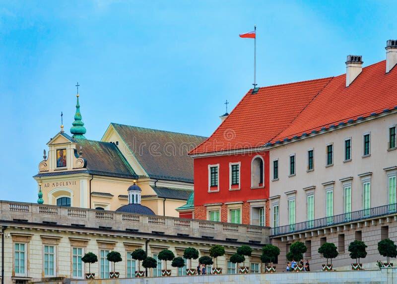 Fragment de château royal dans la vieille ville de Varsovie en Pologne photos stock