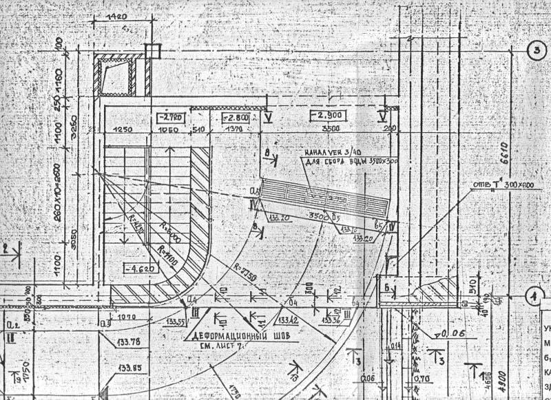 Fragment de cru d'un plan de construction image libre de droits