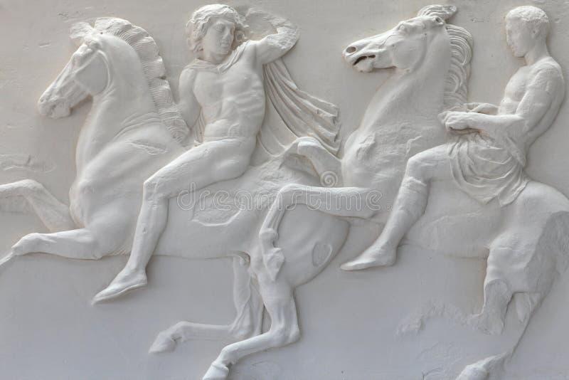 Fragment de frise de parthenon images libres de droits