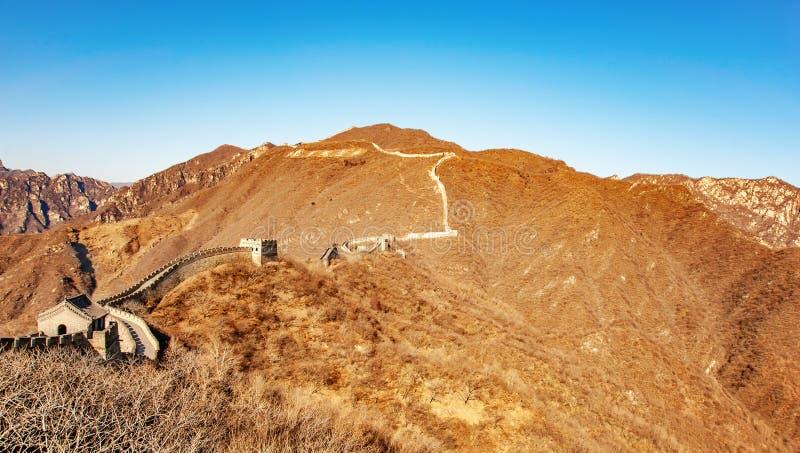 Fragment de grand mur de la Chine photos stock