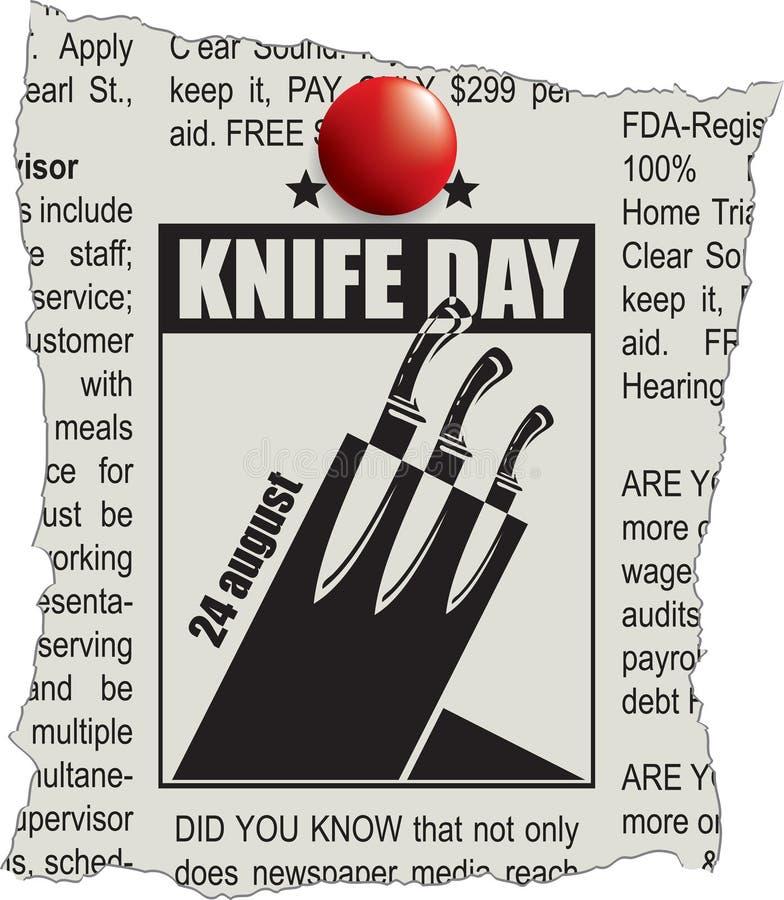Fragment de jour de couteau de classifieds illustration de vecteur