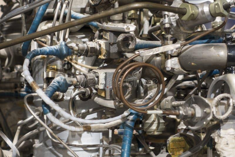 Fragment de la fusée de moteur, exposition détaillée images libres de droits