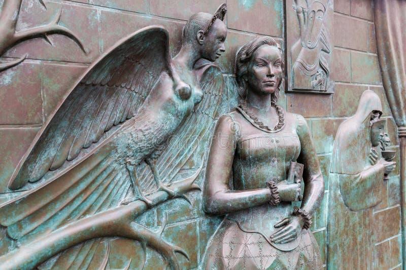 Fragment de monument au chanteur, au compositeur, au poète et à l'acte russes photographie stock