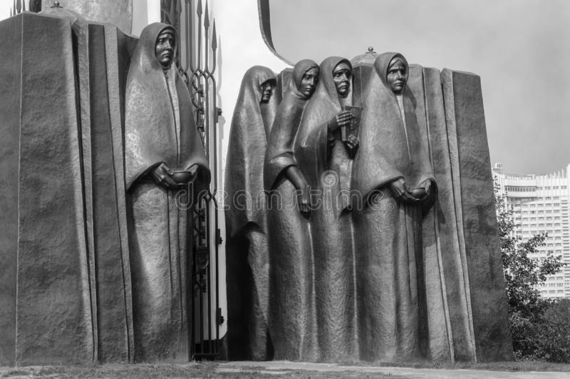 Fragment de monument aux soldat-Afghans à Minsk images libres de droits