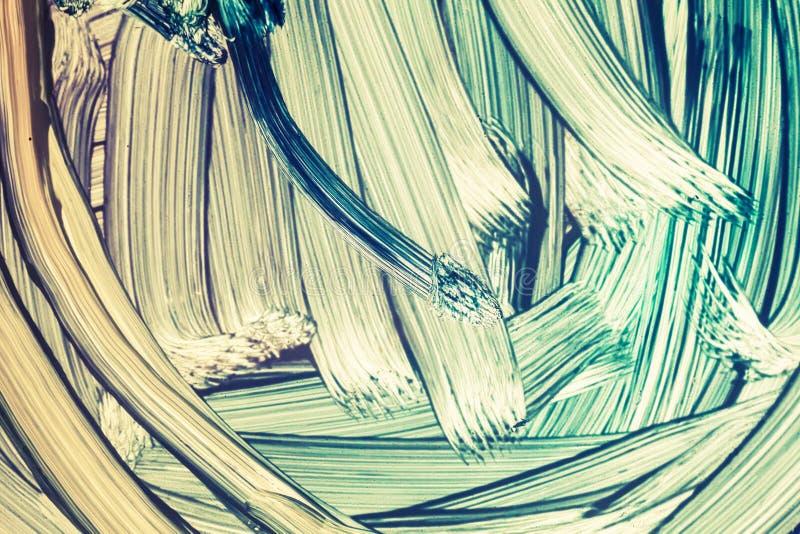 Fragment de peinture à l'huile avec les courses approximatives de brosse illustration de vecteur
