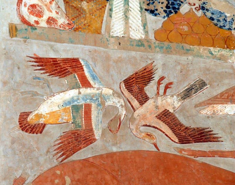 Fragment der ägyptischen Kunst lizenzfreie stockfotografie