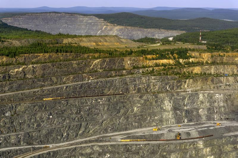 Fragment der Bergbaukarriere stockbild