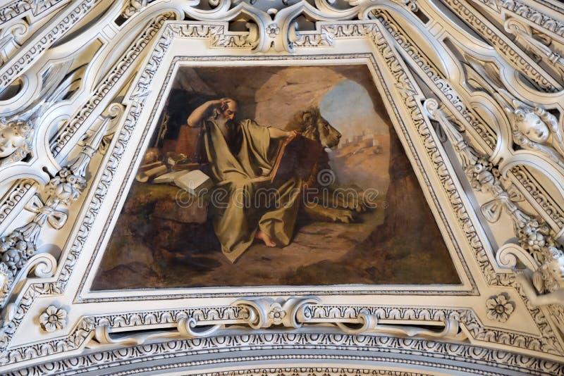 Fragment der Haube in der Kapelle von St Martin, Salzburg Kathedrale lizenzfreies stockbild