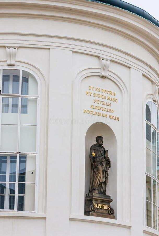 Fragment der Kapelle St.-Kreuzes im zweiten Hof in Prag Ca stockbild
