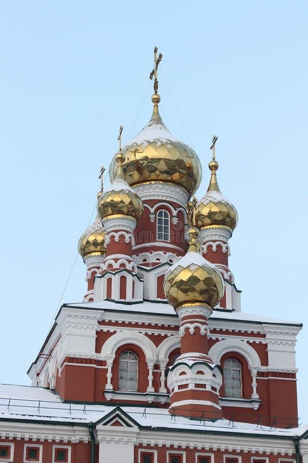 Fragment der Kirche der Besteigung, Dauerwelle, Russland stockbild