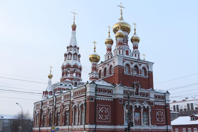 Fragment der Kirche der Besteigung, Dauerwelle, Russland stockfotografie