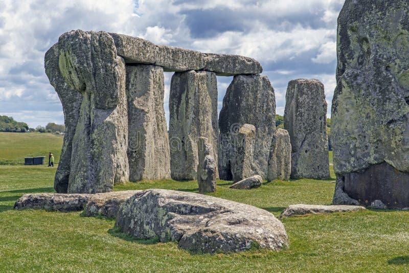 Fragment des alten Stonehenge, Großbritannien lizenzfreie stockfotografie