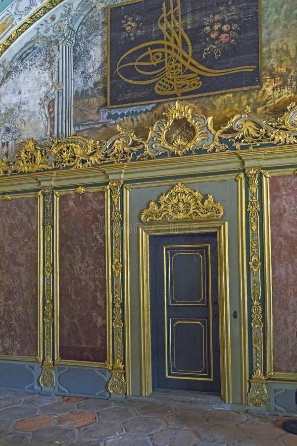 Fragment des Dekors der Halle von Sitzungen der Osmane reg. lizenzfreie stockfotografie