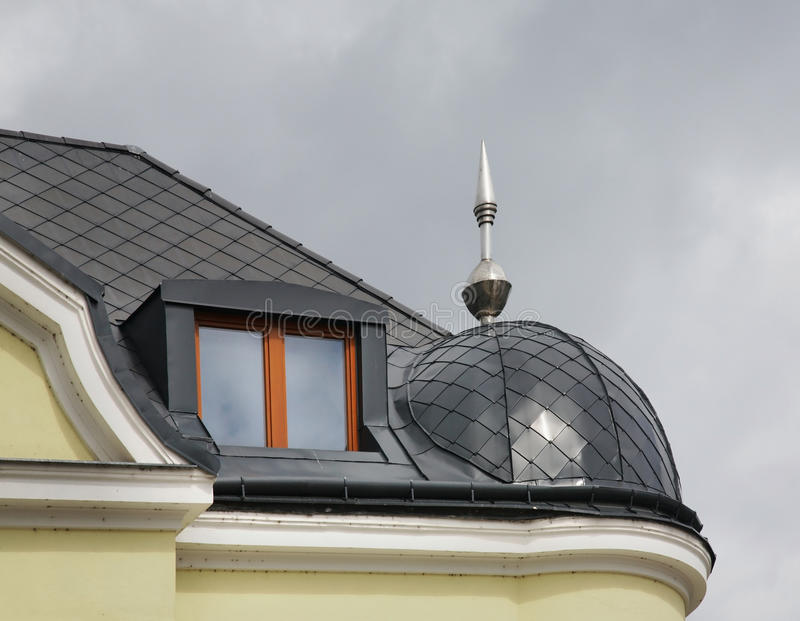 Fragment des Hauses in Zilina slowakei stockfotografie