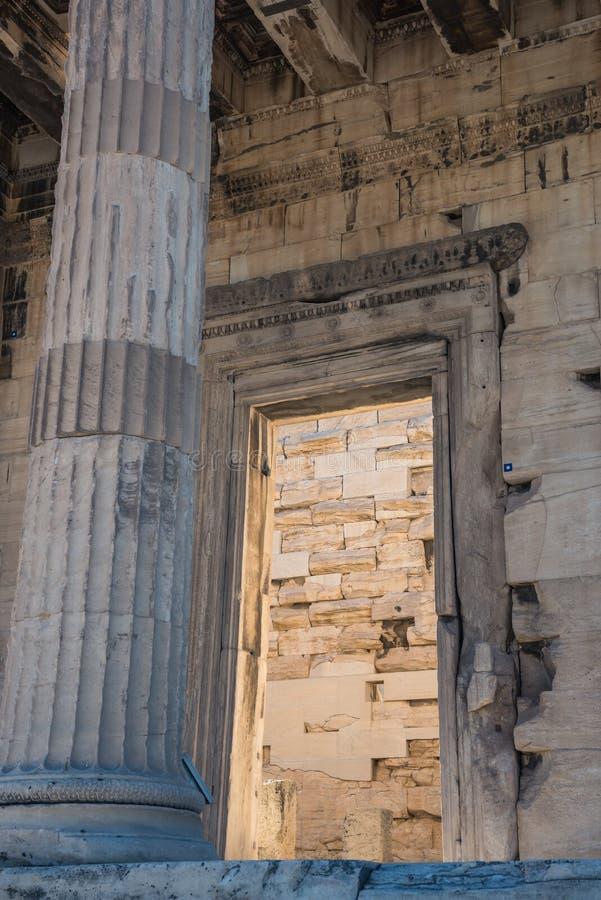 Fragment des Parthenons von der Akropolise von Athen lizenzfreie stockfotos