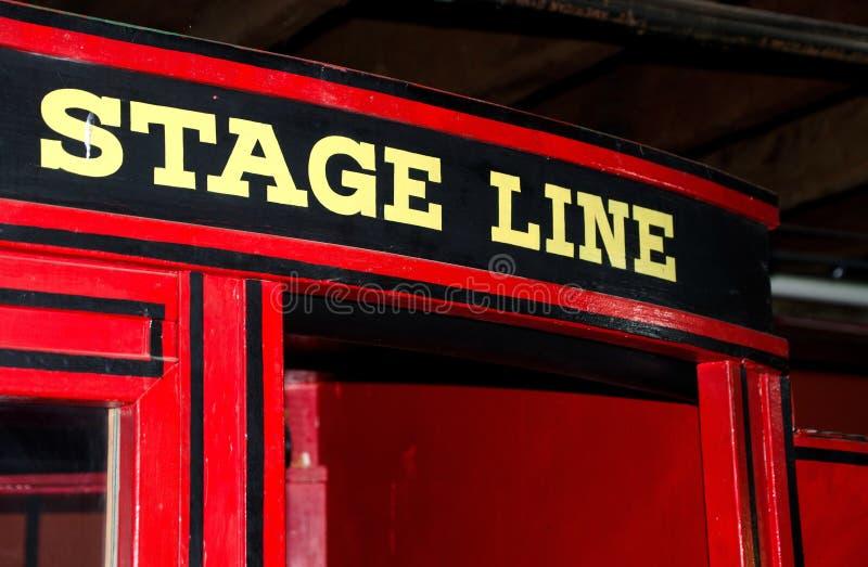 Fragment des roten Stagecoach lizenzfreie stockfotografie