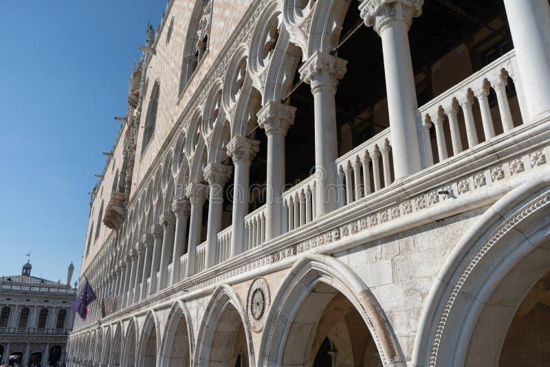 Fragment of Doges palace  Travel photo. Venice. royalty free stock photo