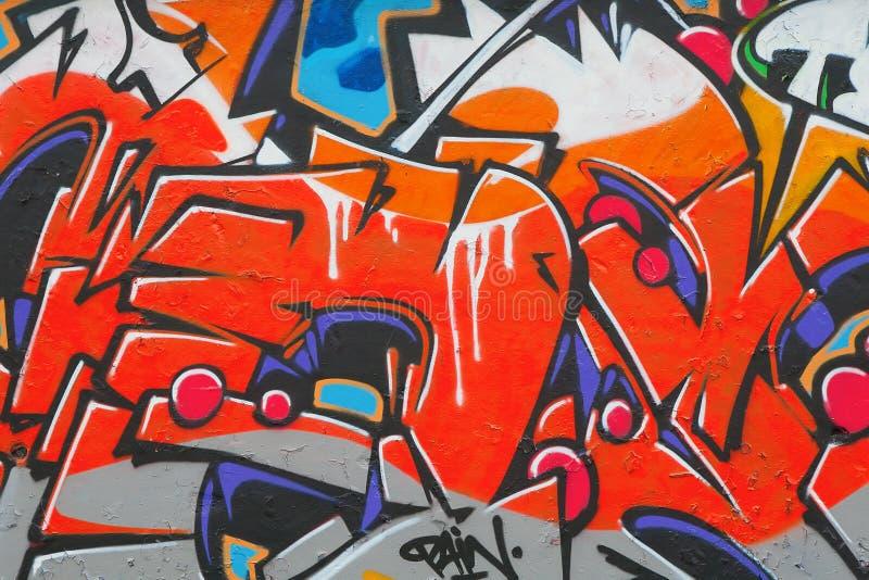 Fragment du graffiti photos libres de droits