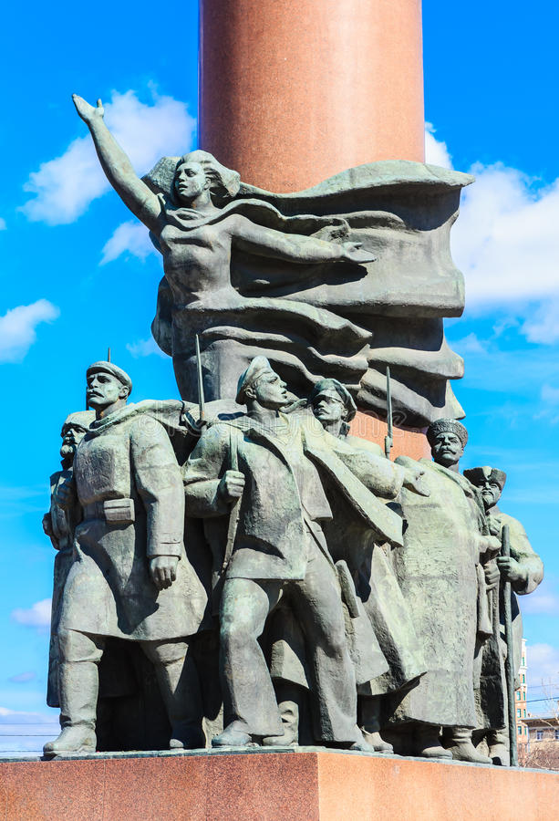 Fragment du monument à Vladimir Lenin, Moscou image libre de droits