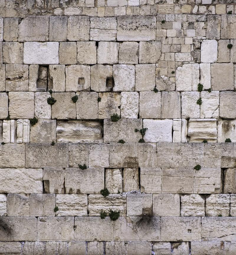 Fragment du mur occidental, Kotel à Jérusalem Israël image stock