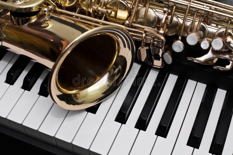 Fragment du saxophone photos libres de droits