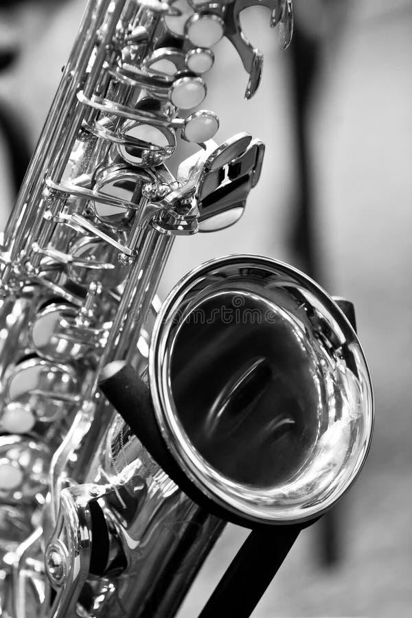 Fragment du saxophone photo stock