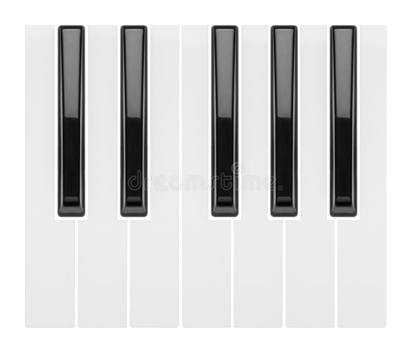 Fragment einer Klaviertastatur stockbild