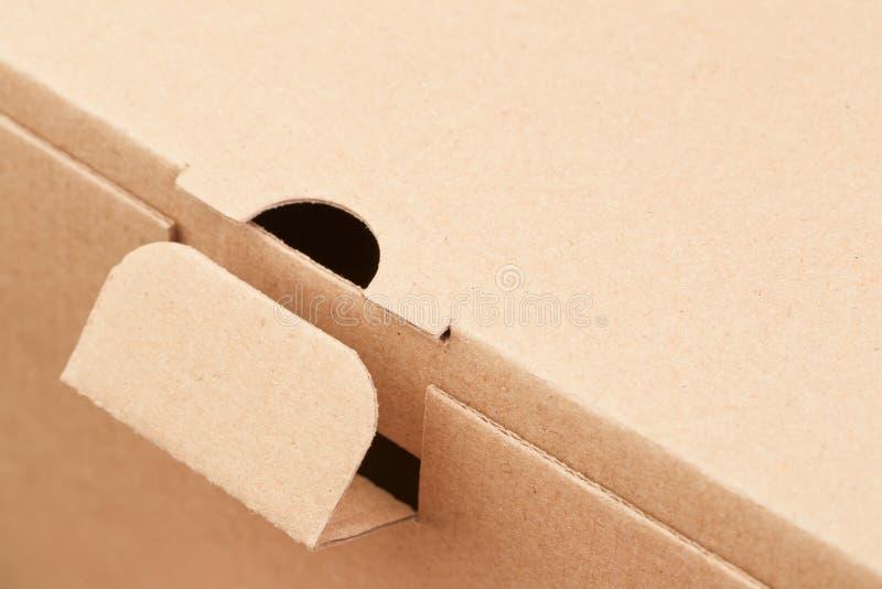 Fragment einer Pappschachtel stockfotos