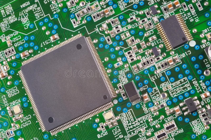 Download Fragment Of Electronic Board Stock Image - Image: 30063103