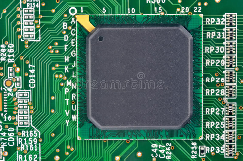 Fragment Of Electronic Board Royalty Free Stock Image
