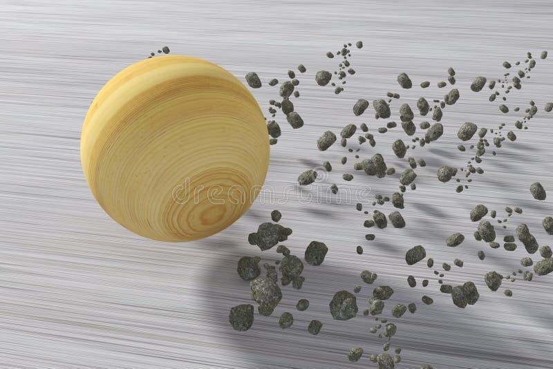Fragment för sten för Jupiterrullning som snabba följer det royaltyfri illustrationer