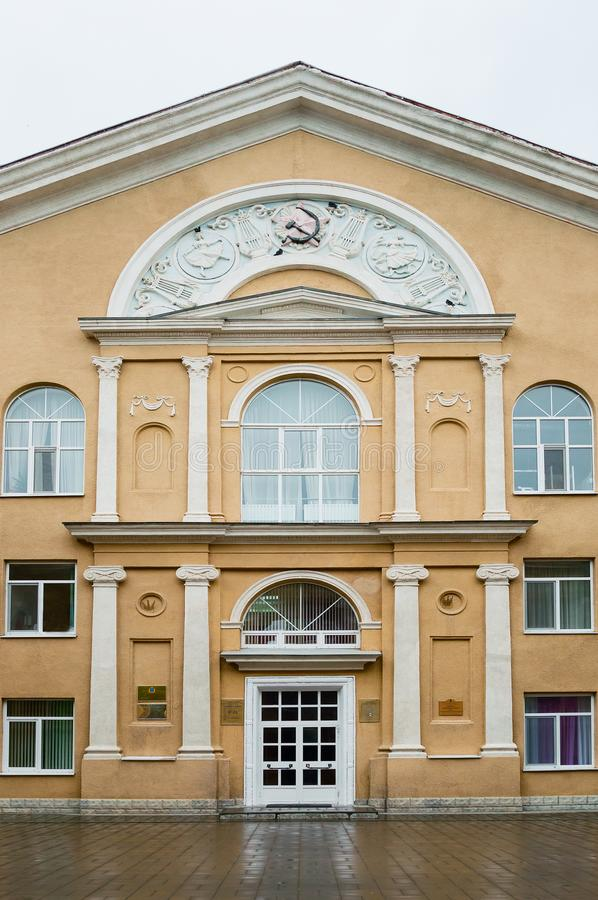 Fragment of the facade of a beautiful historical building, Russia. Fragment of the facade of a beautiful historical building stock photography