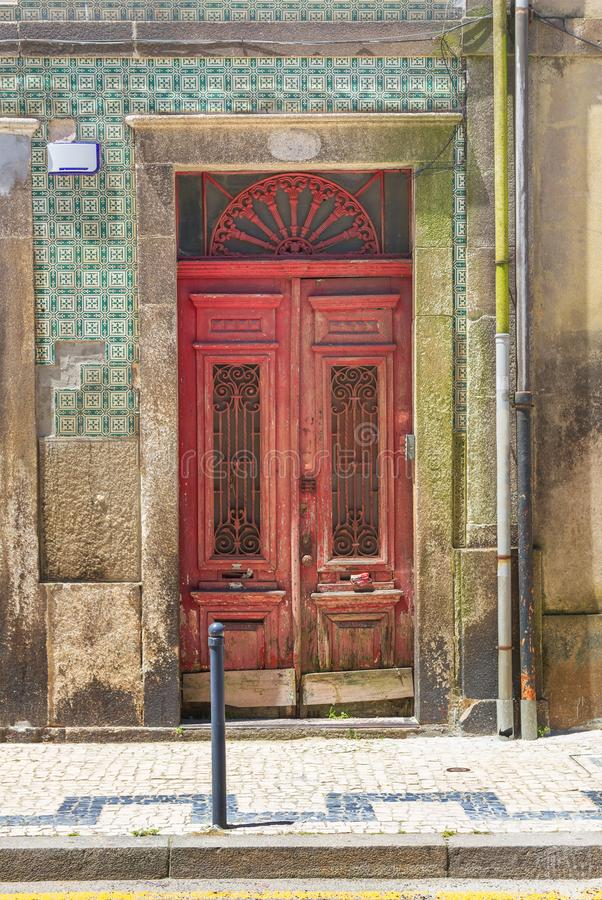Fragment of the facade of the house. Porto. Portugal stock photo