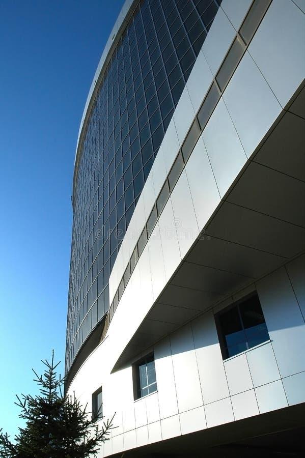 Fragment of a facade of office building stock photos
