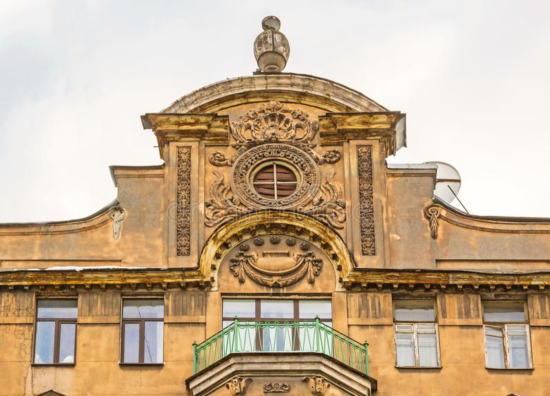 Fragment of the facade stock images