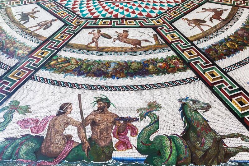 Fragment of floor mosaics in Hermitage, St. Petersburg royalty free stock image