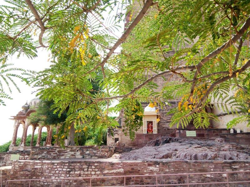 Fragment majestätischen Mehrangarh-Forts gelegen in Jodhpur, Rajasthan lizenzfreie stockfotos