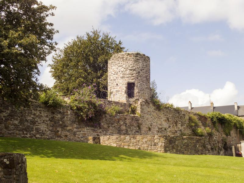 Fragment of medieval city walls royalty free stock photos