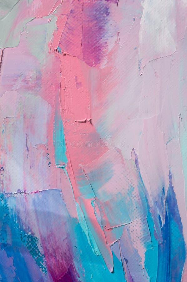 fragment Mehrfarbige Beschaffenheitsmalerei Hintergrund der abstrakten Kunst Schmieröl auf Segeltuch Raue Pinselstriche der Farbe vektor abbildung