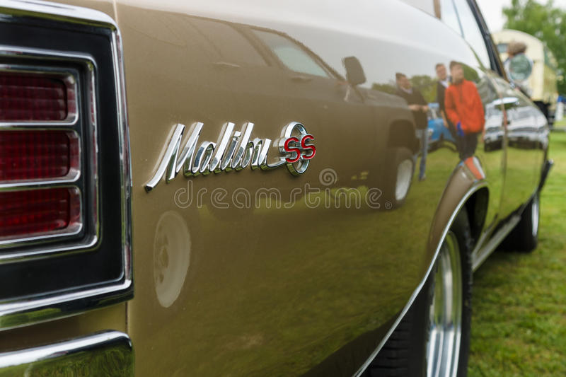 Fragment of a mid-size car Chevrolet Chevelle Malibu SS royalty free stock image