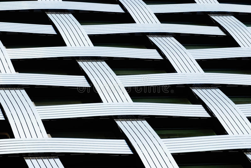 Fragment of a modern architecture building stock images