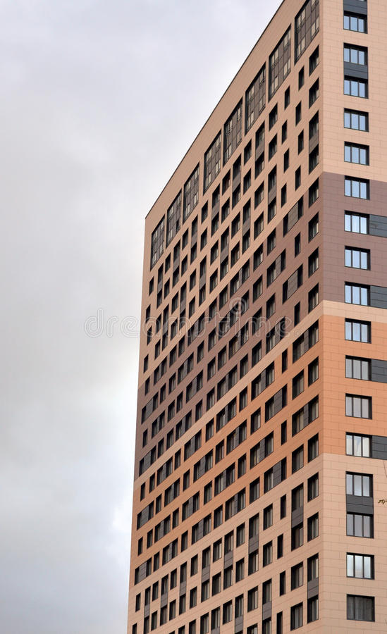 Fragment of modern residential building. royalty free stock photos