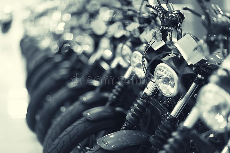 Fragment of a motorcycles stock photo
