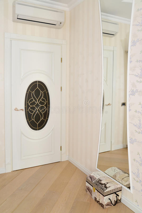 Free Fragment Of An Interior Of A Living Room With A White Door And A Stock Photography - 51625592