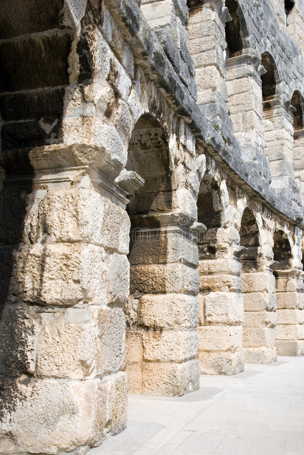 Free Fragment Of Ancient Roman Amphitheatre Arena Stock Photo - 6547620